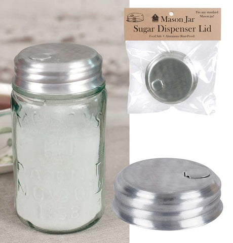 Mason Jar Sugar Dispenser Lid