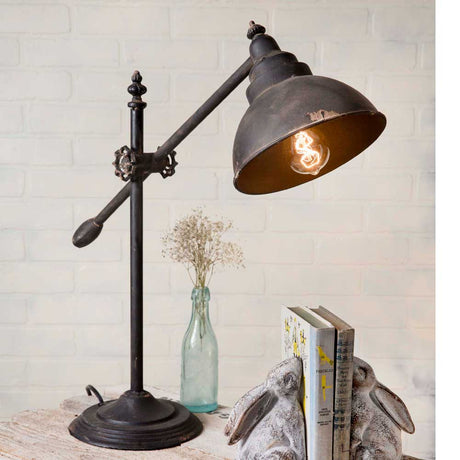 Vintage Adjustable Task Lamp with Swing-Arm