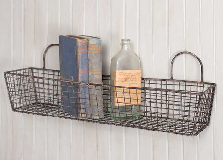 french bakery style wire wall basket
