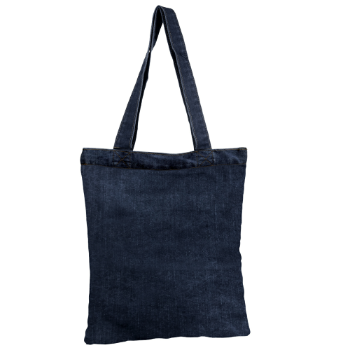 BACK POCKET DENIM TOTE
