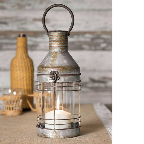 galvanized carriage candle lantern