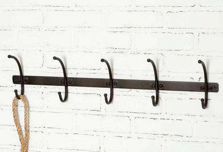 black metal rustic coat rack