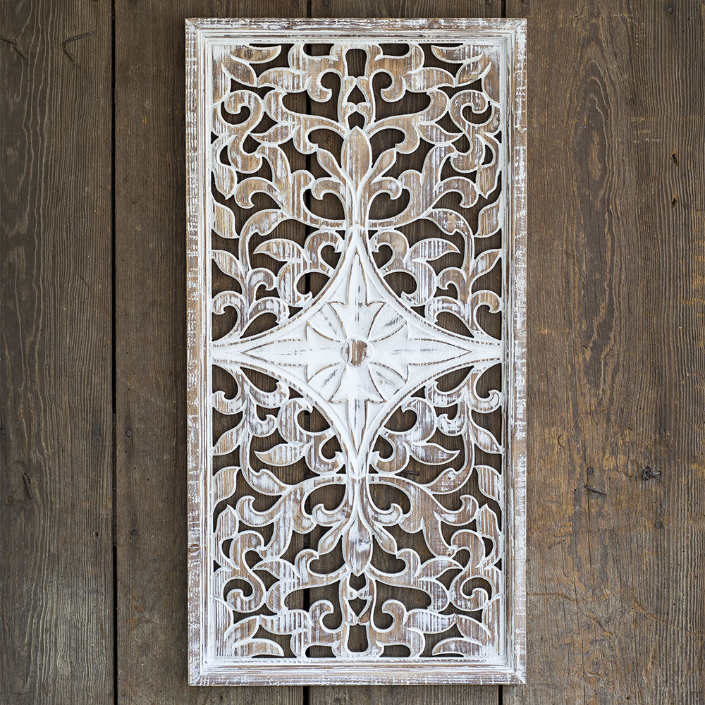 wooden architectural wall decor