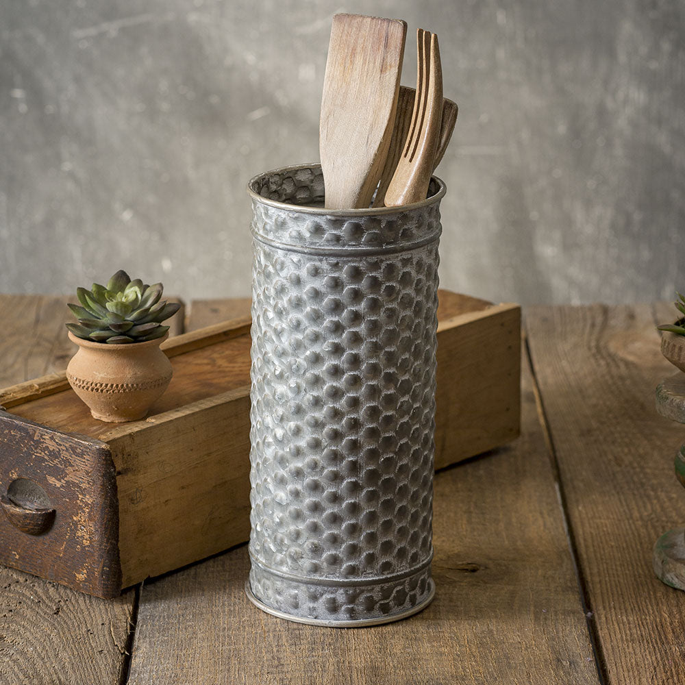textured medium metal canister