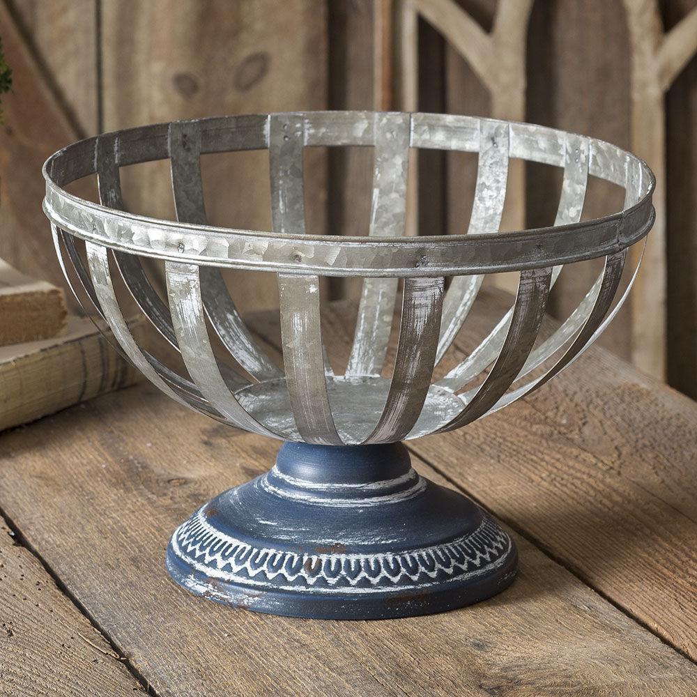 metal pedestal basket