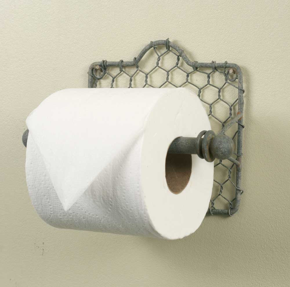 Chicken Wire Toilet Paper Holder