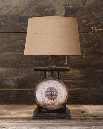 Vintage Farmhouse Scale Lamp