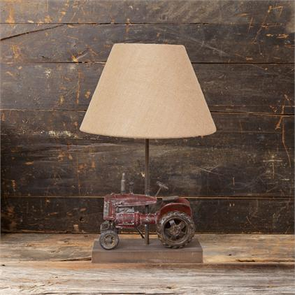 tractor themed lamp