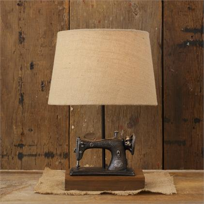 vintage sewing machine style lamp