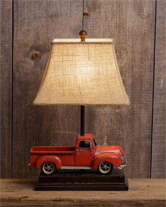 little red truck lamp