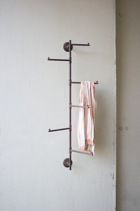 metal swivel industrial wall coat rack