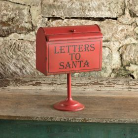 ragon house pedestal letters to santa red mailbox