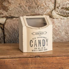 WHITE METAL CANDY BOX