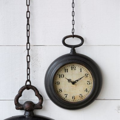 pocket watch wall clock park hill collection