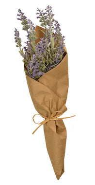 lavender wrapped in kraft paper