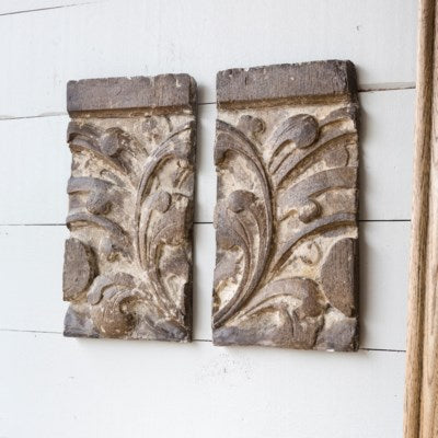 Floral Architectural Relic Wall Decor