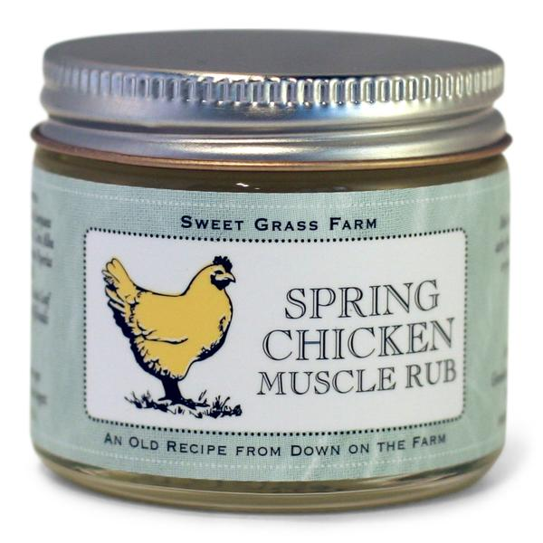 Spring Chicken Tired Muscle Rub Sweet Grass Farms