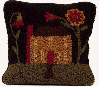 Homecoming Pillow Hooked Wool