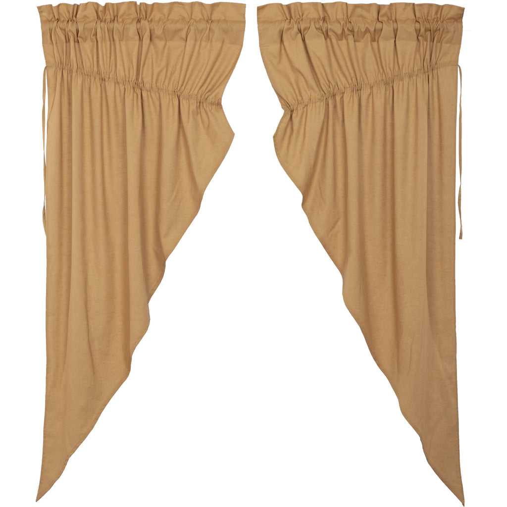 Simplicity Flax Khaki Prairie Short Panel Set of 2 63x36x18