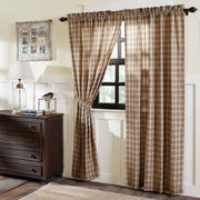 Miller Farm Charcoal Plaid Panel Curtain Set of 2 84x40