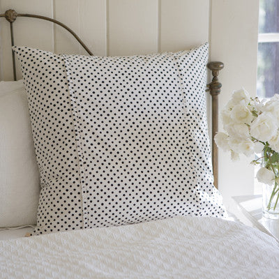 Dottie Black Euro Sham