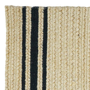 "Braided Rug Farmhouse Stripe Natural and Black Homespice ""Taylor"""