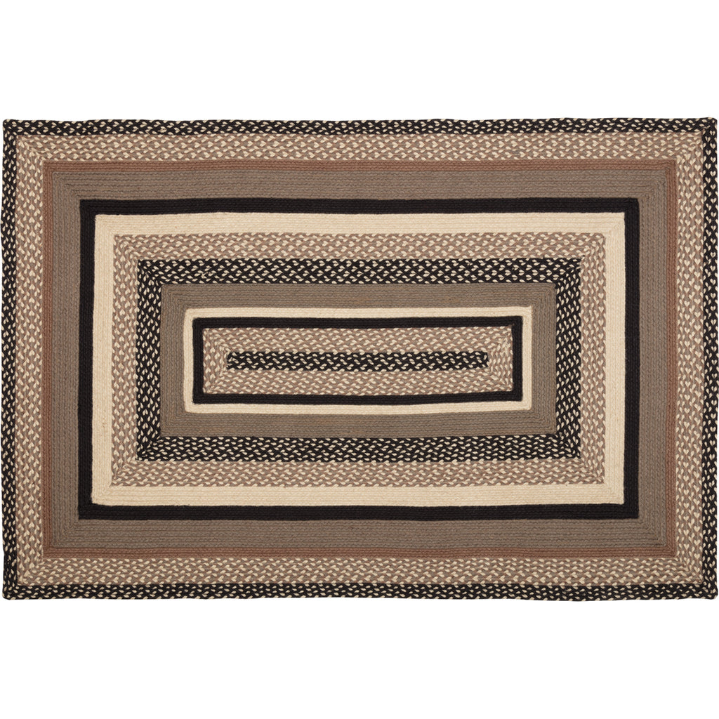 Miller Farm Charcoal Jute Rug Rect 48x72