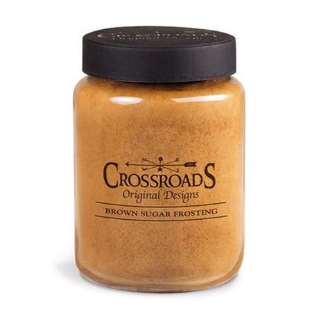 Crossroads Candles--Brown Sugar Frosting Jar Candle, 26oz