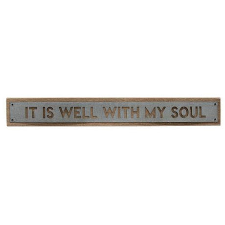 wood and galvanized it is well with my soul sign