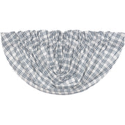 Miller Farm Blue Plaid Balloon Valance 15x60