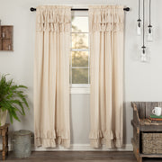 Simplicity Flax Natural Ruffled Panel Set of 2 84x40