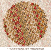Harvest Beige Jute Braided Rug