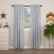 Miller Farm Blue Plaid Panel Set of 2 84x40