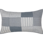 Miller Farm Blue King Sham 21x37