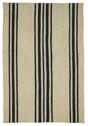 Braided Rug Farmhouse Stripe Natural And Black Homespice