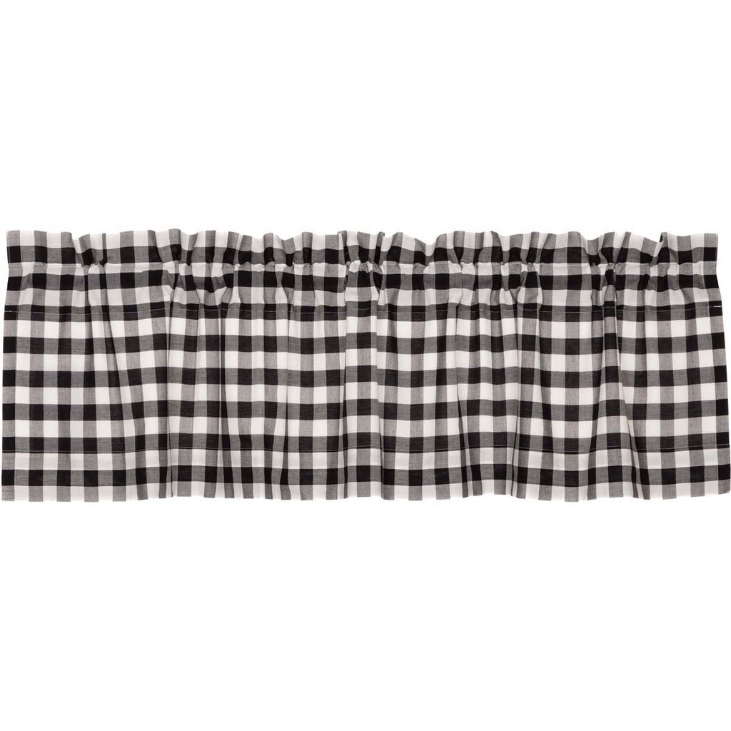 Jenna Buffalo Black Check Valance 16x60