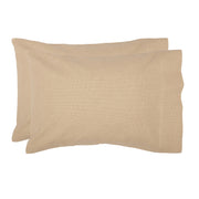 Veranda Burlap Creme Standard Pillow Case Set of 2 21x30