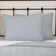 Miller Farm Blue Ticking Stripe Standard Sham 21x27