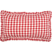 Jenna Buffalo Red Check Ruffled King Sham 21x37