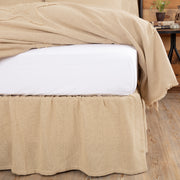 Veranda Burlap Creme Ruffled Twin Bed Skirt 39x76x16