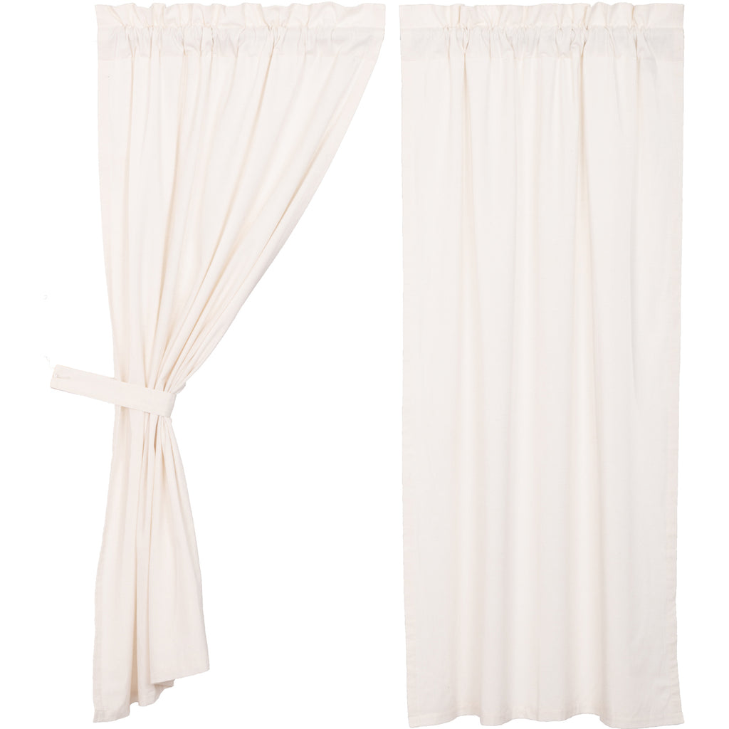 Simplicity Flax Antique White Short Panel Set of 2 63x36