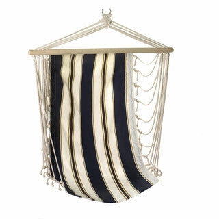 Swing Hammock Chair in Navy Stripe for Porch or Tree