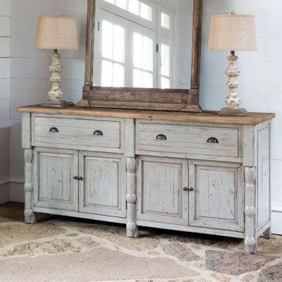 park hill collection distressed white buffet