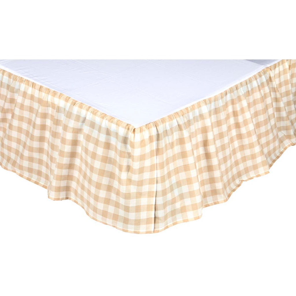 Jenna Buffalo Tan Check Queen Bed Skirt 60x80x16