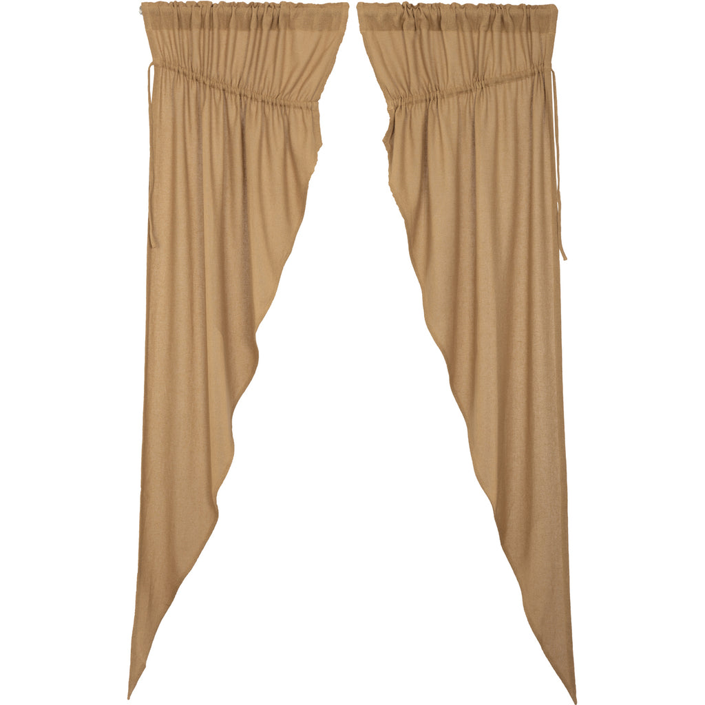 Veranda Burlap Tan Prairie Long Panel Set of 2 84x36x18