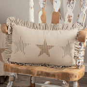 Miller Farm Star Charcoal Pillow 14x22