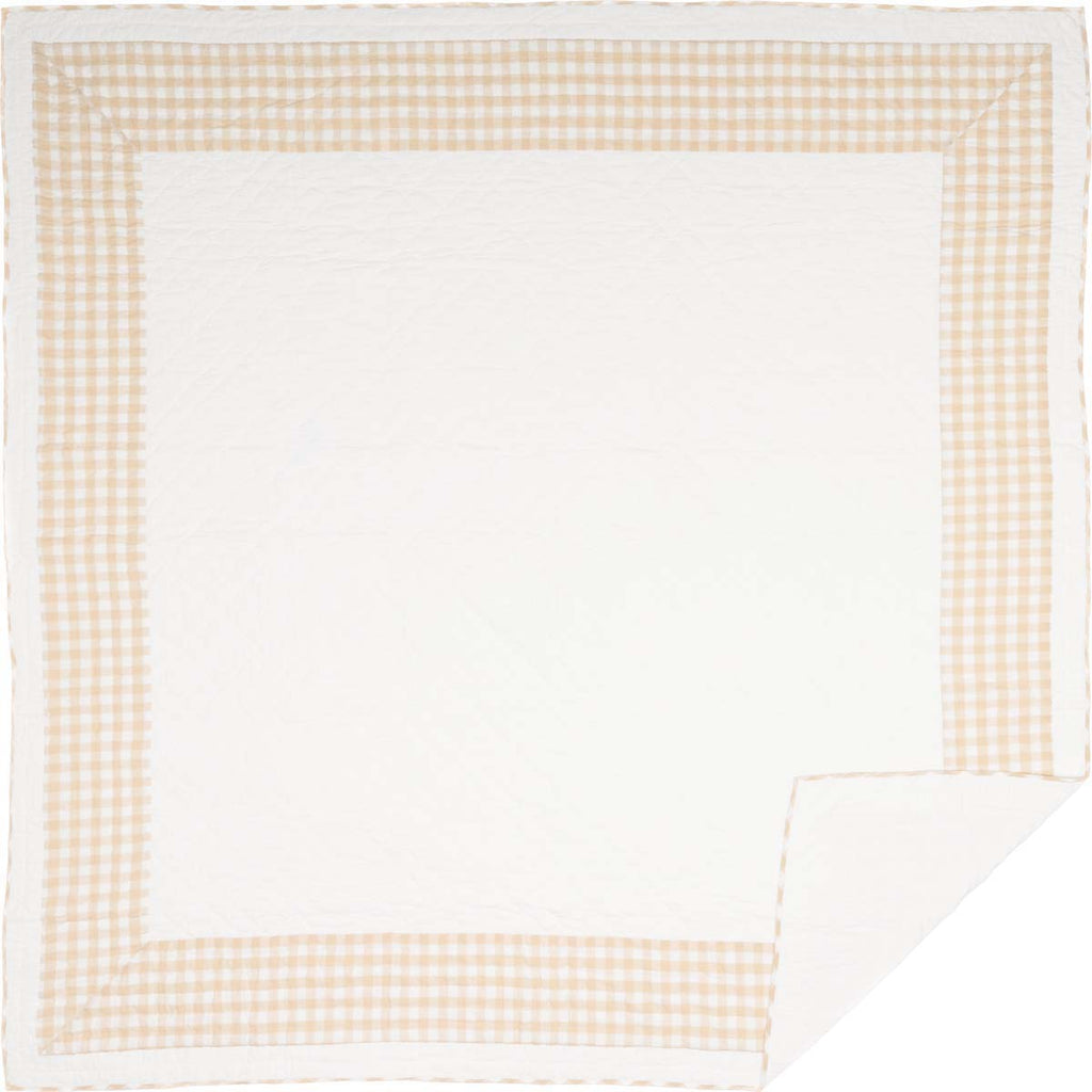 Jenna Buffalo Tan Check Queen Quilt 90Wx90L