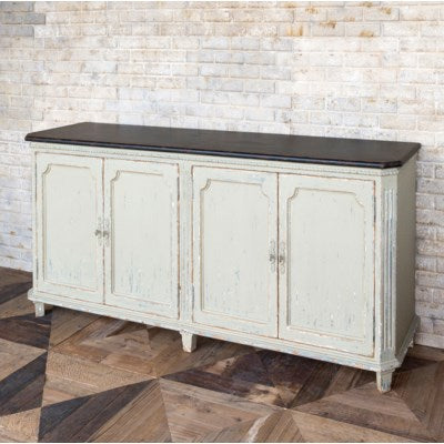 distressed white painted park hill collection lafayette buffet