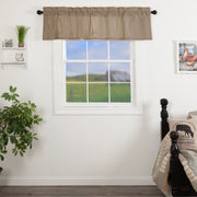 Miller Farm Charcoal Ticking Stripe Valance 16x60