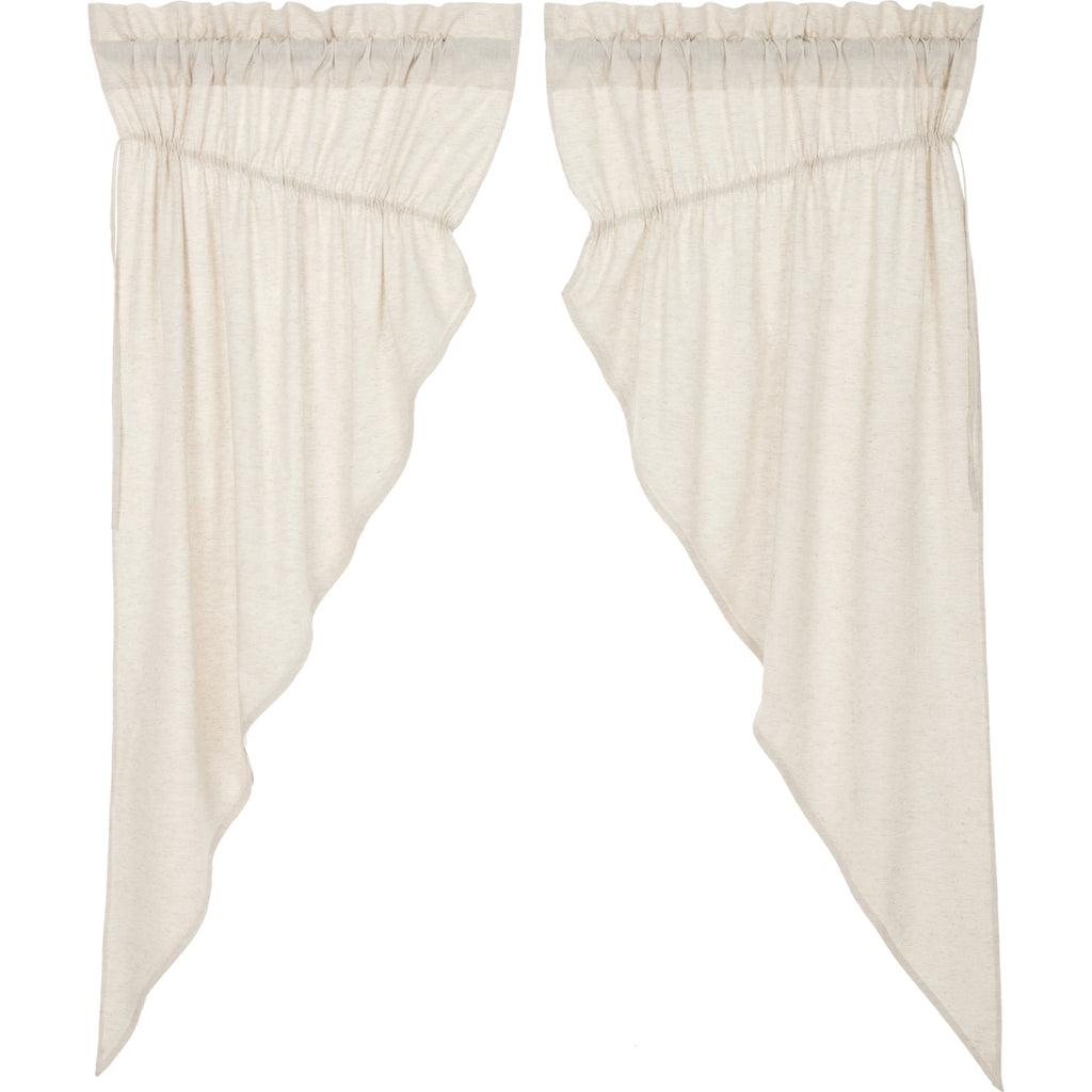 Simplicity Flax Natural Prairie Short Panel Set of 2 63x36x18